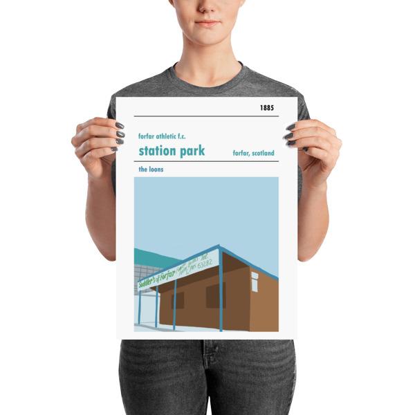 A medium sized football poster of Station Park, Forfar Athletic FC