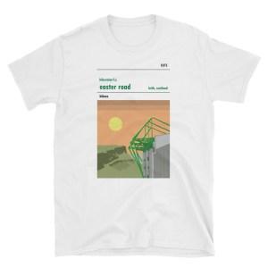 A t shirt of Easter Road, home to Hibernian Football Club who play in Leith, Edinburgh.