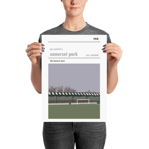 A medium sized football poster of Somerset Park, home of Ayr United FC