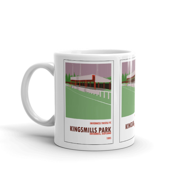 A coffee mug of Kingsmill Park, home to Inverness FC