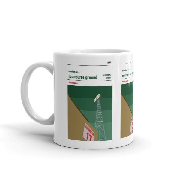 Wrexham FC and Racecourse Ground coffee mug