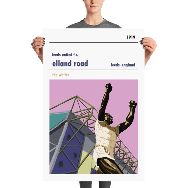 Huge football poster of Elland Road and Leeds United FC