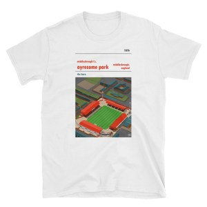 A t shirt of Middlesbrough FC's former home of Ayresome Park