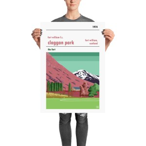 The perfect football poster gift of Fort William FC and Claggan Park