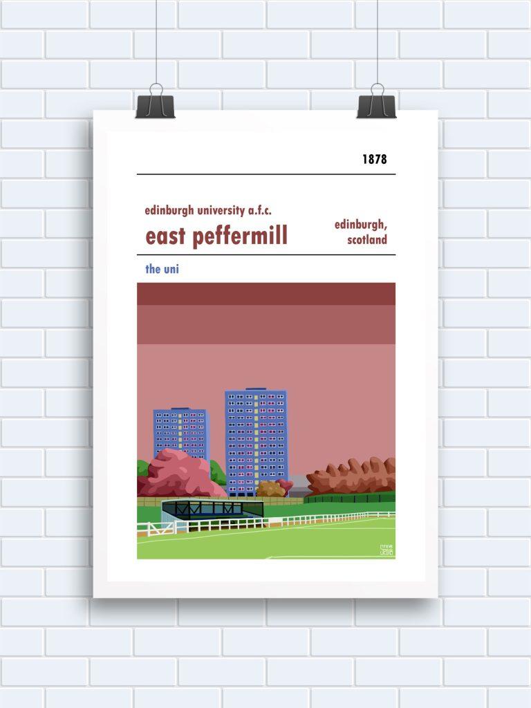 Edinburgh University East Peffermill Print