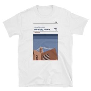 A white t shirt of Sampdoria FC and Stadio Luigi Ferraris