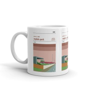 Coffee mug of Gretna FC 2008 and Raydale Park.