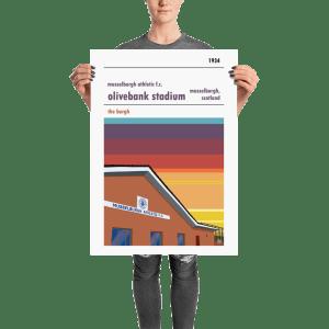 A football poster of Musselburgh Athletic and Olivebank Stadium. Edinburgh