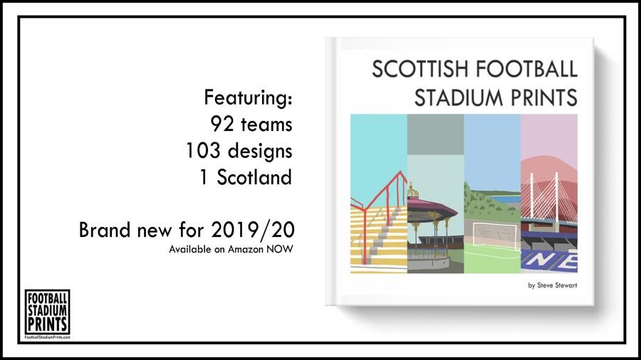 Scottish Football Stadium Prints Book