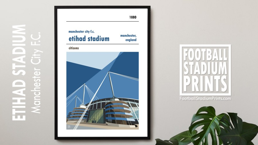 The Etihad poster, Manchester City FC