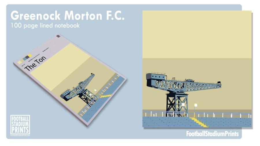 Greenock Morton FC Football Print Notepad