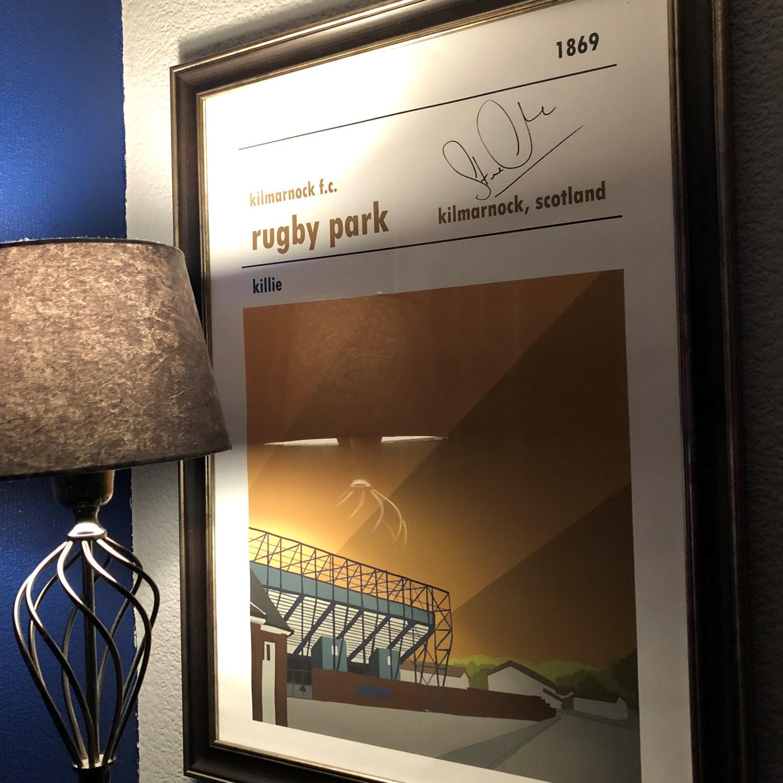 Kilmarnock Football Print signed by Steve Clarke, Scotland Manager