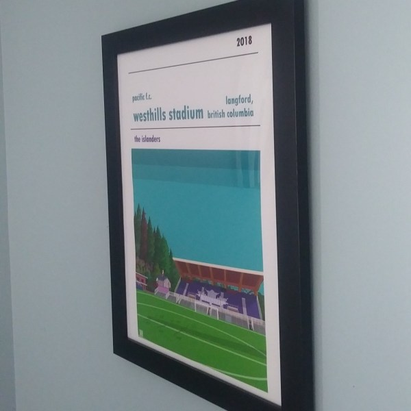 Football Print of Pacific Fc and Westhills Stadium