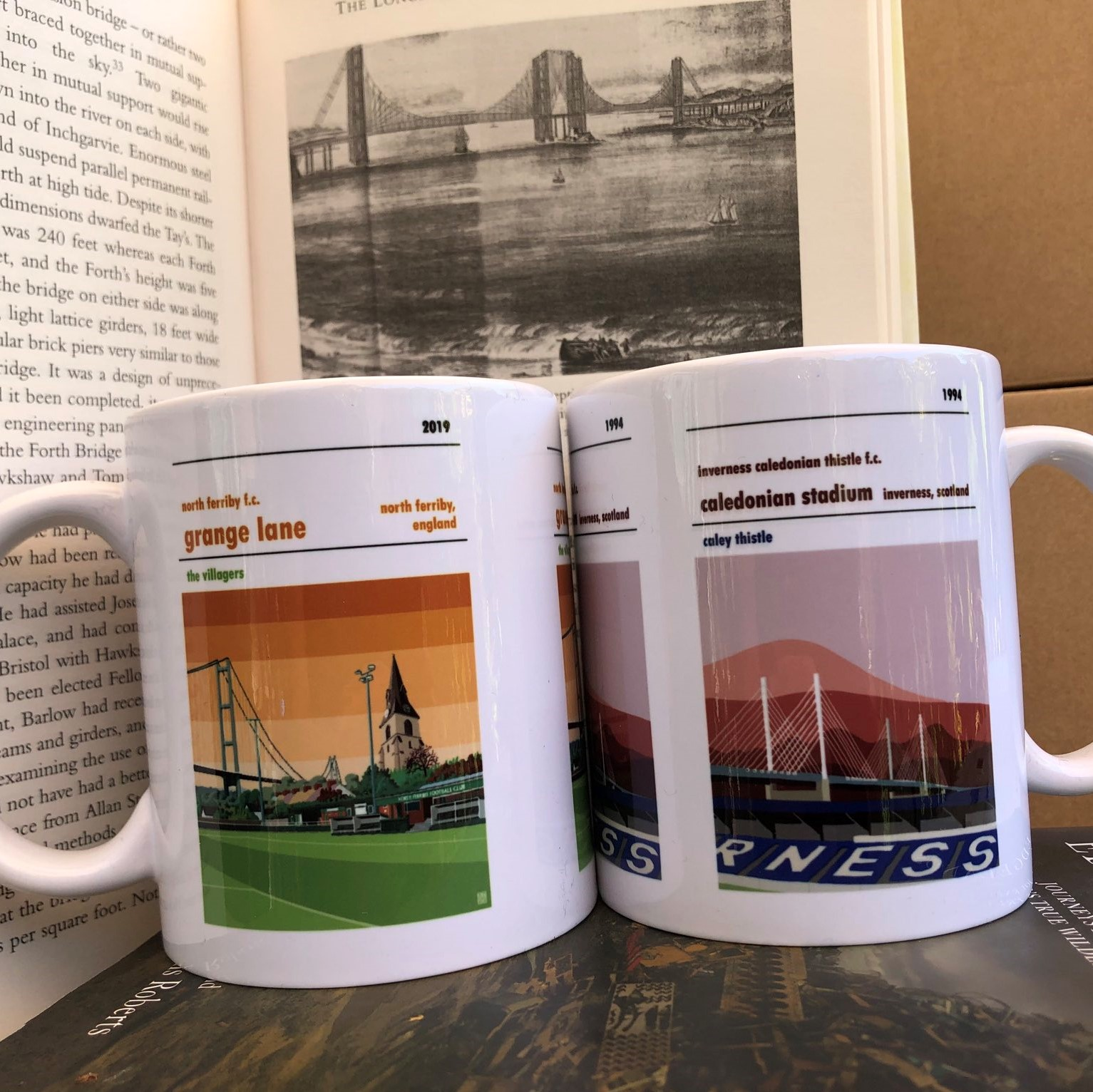 Belper Town and Inverness Football Mugs
