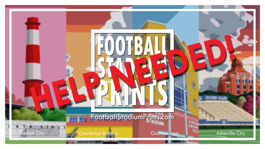 Twitter Admin help for Football stadium Prints
