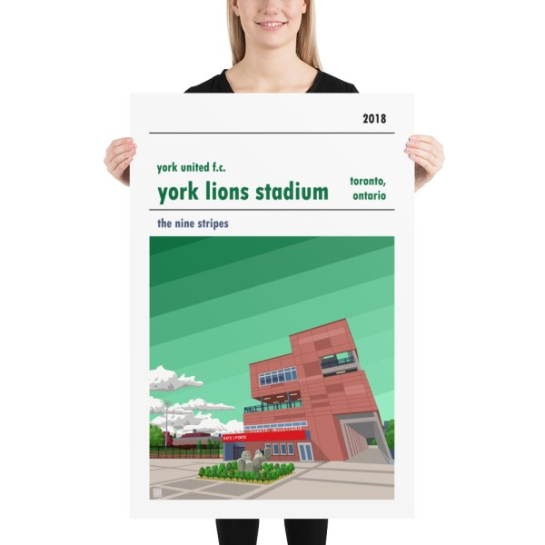Huge York Lions Stadium and York United FC football poster
