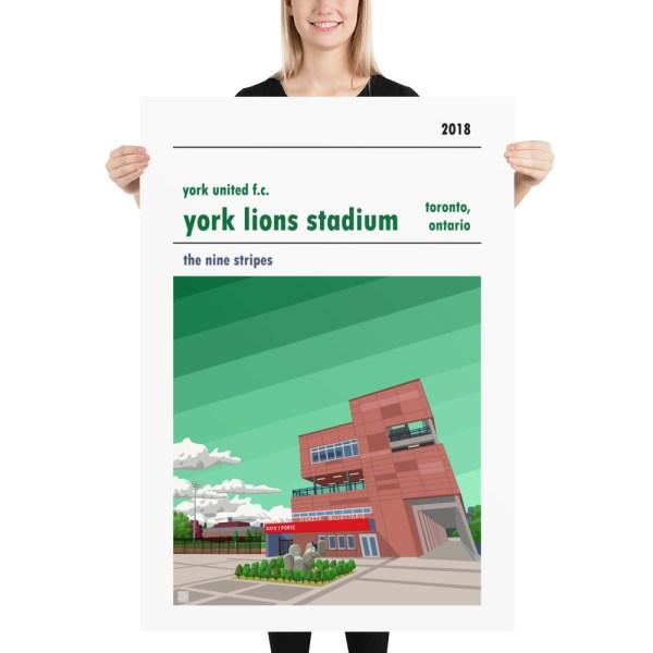 Massive York Lions Stadium and York United FC football poster