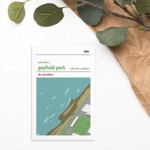 Gayfield and Arbroath postcard
