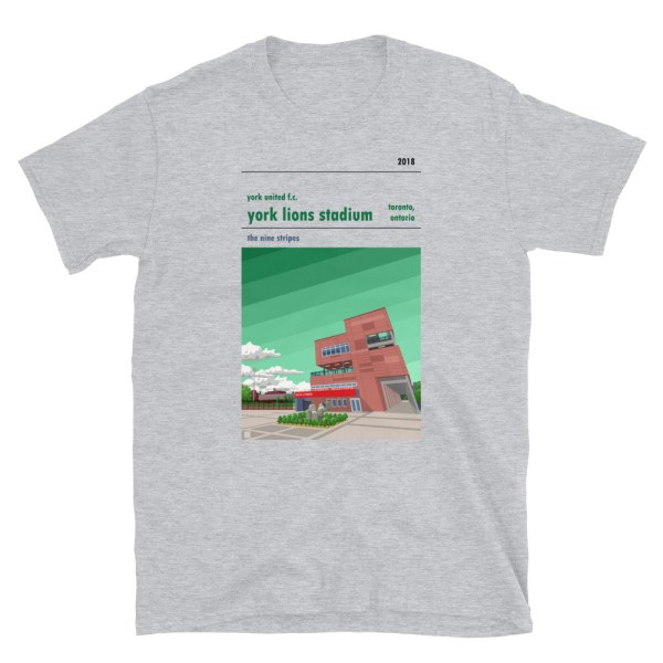 Grey York Lions Stadium and York United FC T-Shirt