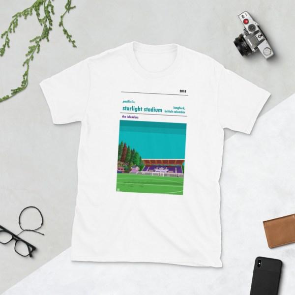 White Pacific FC and Starlight Stadium t-shirt