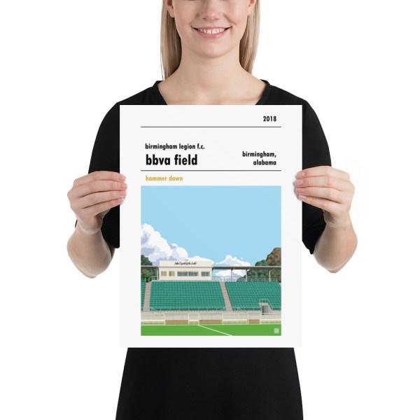 Birmingham Legion and BBVA Field football poster