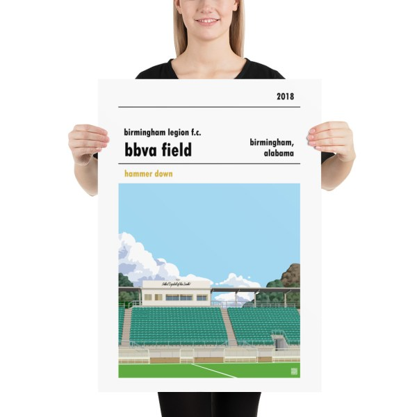 Large Birmingham Legion and BBVA Field football poster