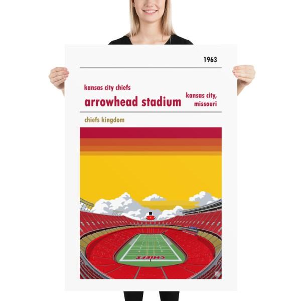 Massive Arrowhead Stadium and Kansas City Chiefs FC Football poster