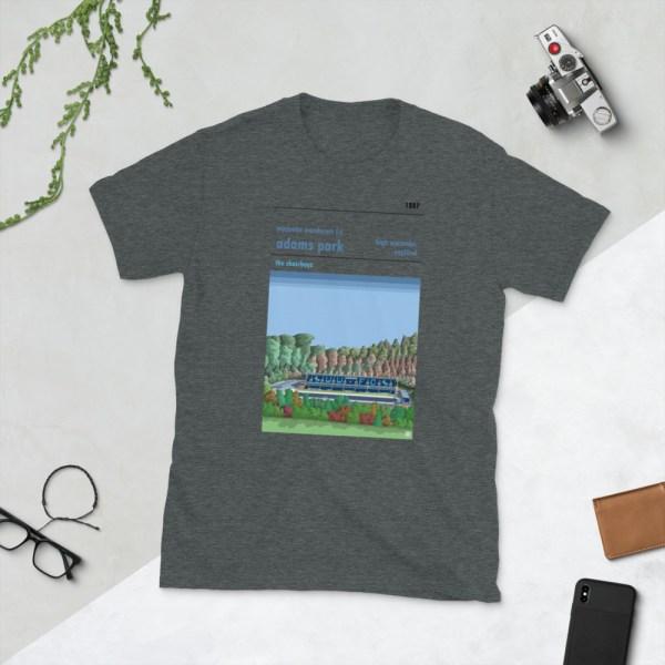 Dark grey Wycombe Wanderers and Adams Park t-shirt