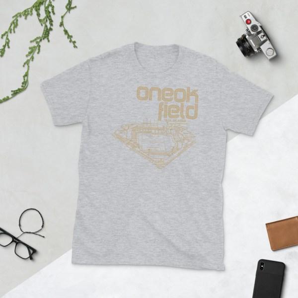 Grey ONEOK Field and FC Tulsa t-shirt