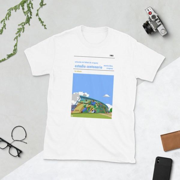 White Estadio Centenario and Uruguay national football team t-shirt