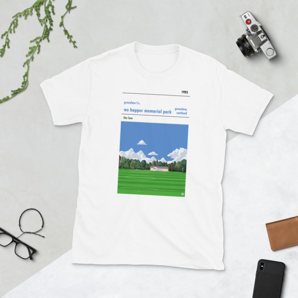White Greenlaw FC and Happer Park T-Shirt