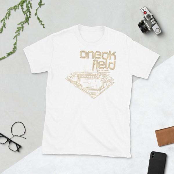 White ONEOK Field and FC Tulsa t-shirt