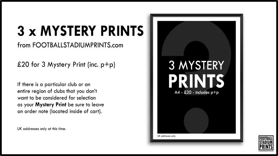 Mystery Prints by Football Stadium Prints buy 2 get 1 free