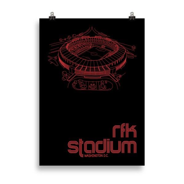 Large RFK Stadium and DC United Print