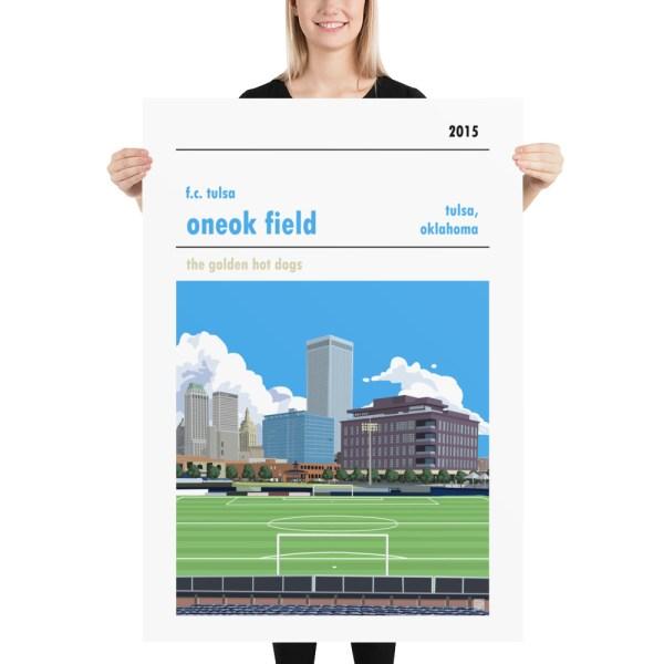 Massive ONEOK Field and FC Tulsa football poster