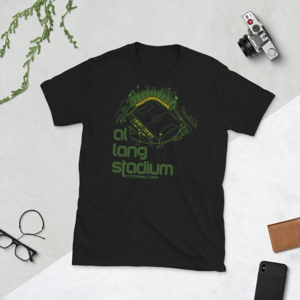 Black Al Lang Stadium and Tampa Bay Rowdies T-Shirt