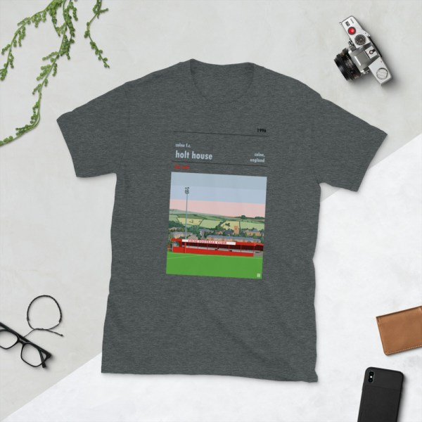 Dark grey Colne FC and Holt House T-Shirt