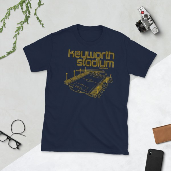 Navy and Gold Keyworth Stadium and Detroit City FC t-shirt