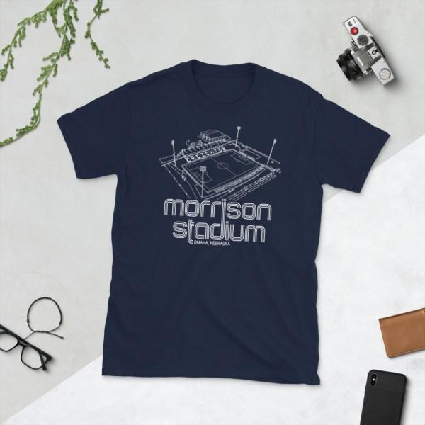 Navy Morrison Stadium home to Creighton BlueJays Soccer Team T-Shirt