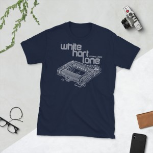 Navy White Hart Lane and Spurs T-Shirt