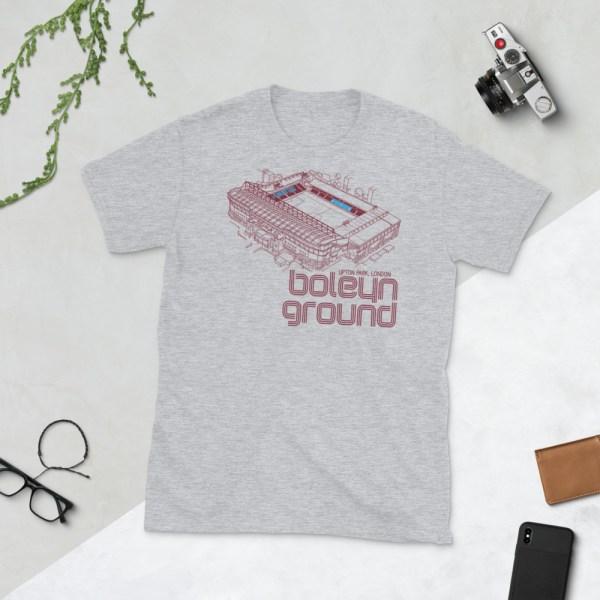 Grey West Ham United and Boleyn Ground T-Shirt