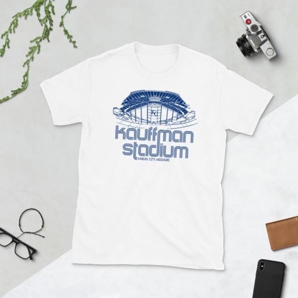 White Kauffman Stadium and Kansas City Royals T-Shirt