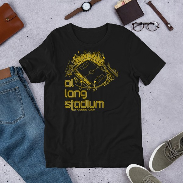 Black and yellow Tampa Bay Rowdies Fine Line T-Shirt