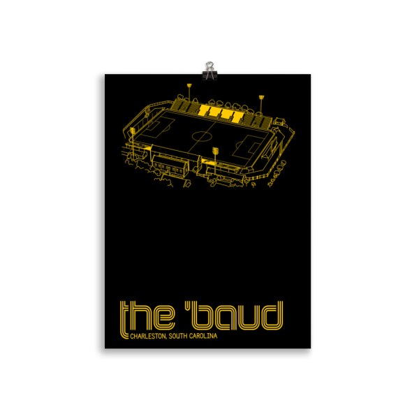 Charleston Battery and the Baud soccer print