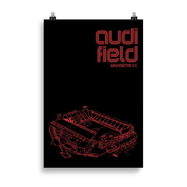 Huge Audi Field and DC United soccer poster