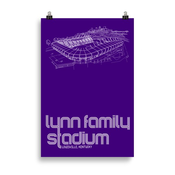 Huge Lynn Family Stadium and Louisville City SC poster
