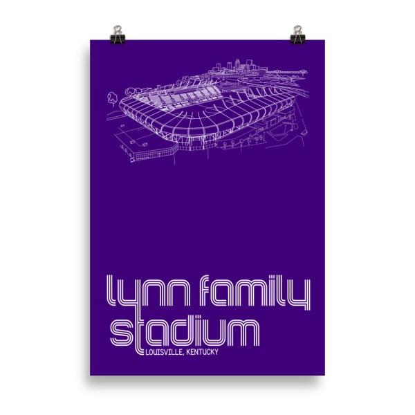 Massive Lynn Family Stadium and Louisville City SC poster