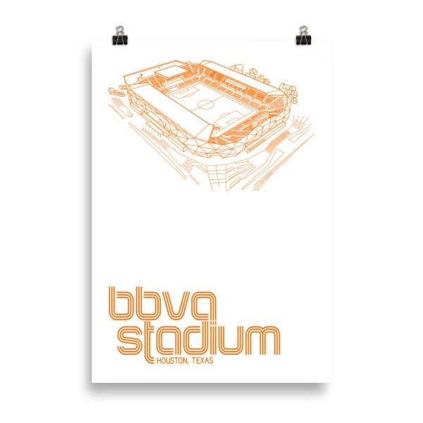 Massive BBVA Stadium and Houston Dynamo and Dash soccer print