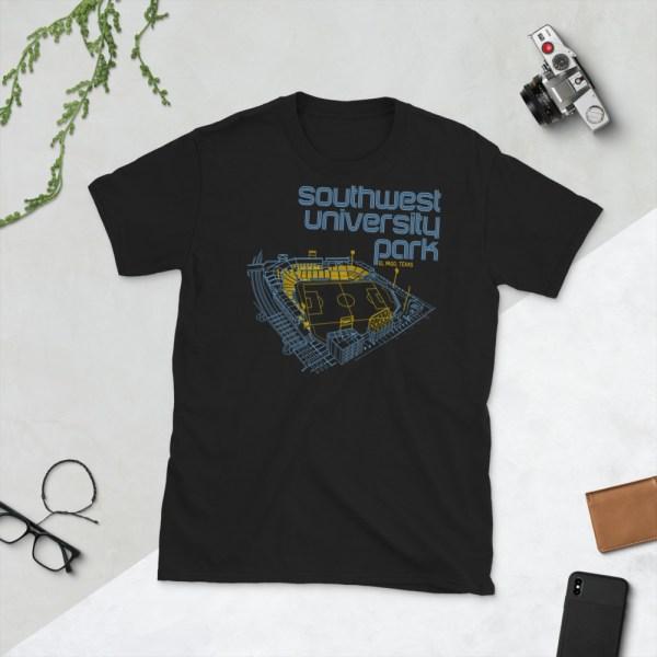 Black El Paso Locomotive and Southwest University Park T-Shirt