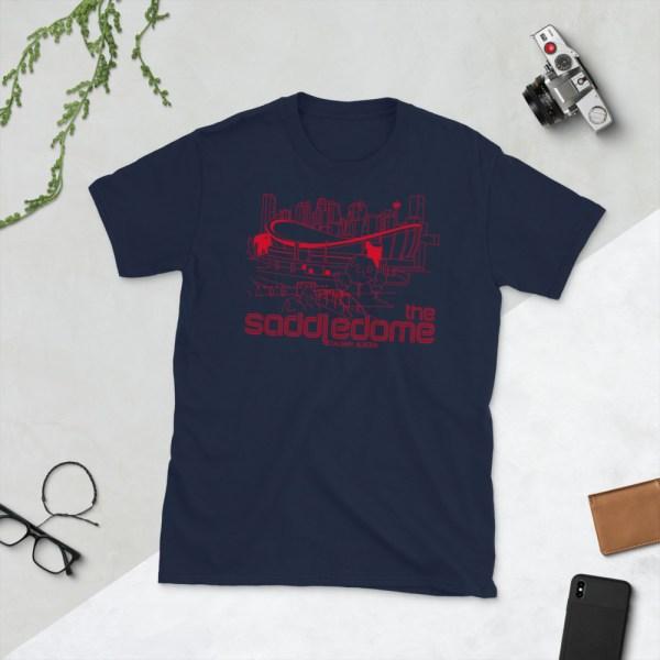 Navy Saddledome and Calgary Flames T-Shirt